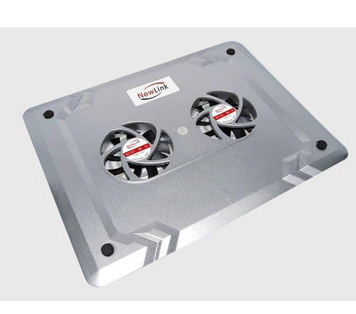 Base Refrigerada Newlink / 2 Coolers Centrais / Conexão USB / Prata