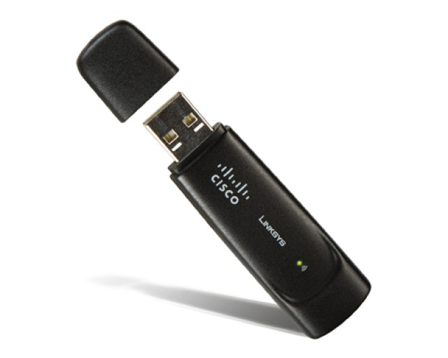 Adaptador Wireless-G Linksys / USB / Compacto / Preto