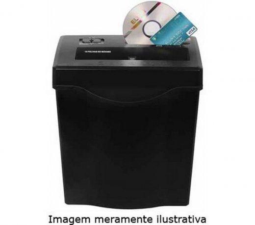 Fragmentadora de Papel Elgin / CD / Cartão / 12 Folhas / 13L / Preta / 220V