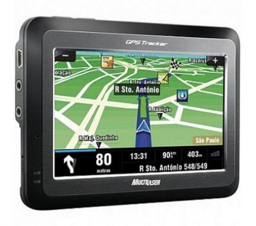 GPS Tracker com TV digital LCD Touchscreen de 4,3 Multilaser