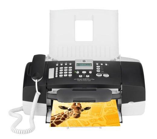 Multifuncional HP Officejet J3680 / Jato de Tinta / Colorida / Preta com Cinza / Bivolt