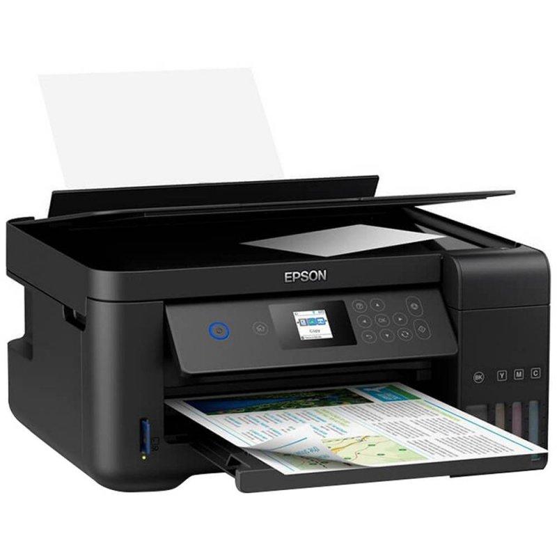 Impressora Multifuncional Epson Tanque De Tinta EcoTank L4160 Wi-Fi Colorida USB