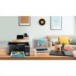 Impressora Epson Tanque de Tinta EcoTank L3150 Wi-Fi Colorida USB Imprime Copia e Digitaliza