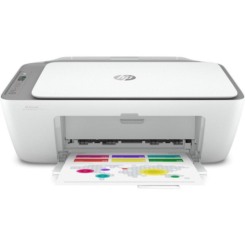 Impressora Multifuncional HP Deskjet Ink Advantage 2776 Colorida Jato de Tinta Wifi Bivolt Branca