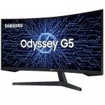 Monitor Gamer Samsung Curvo Odyssey 34 LED Ultra WQHD Hz HDMI Premium Serie G5 Preto