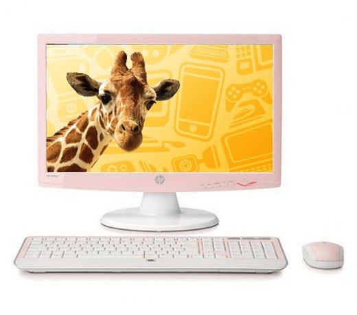 Monitor L200CP / Hp / LCD 20 / Widescreen / com Mouse e Teclado / Rosa