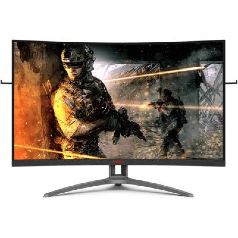 Monitor Gamer AOC Agon 32 Widescreen Curvo 165Hz 1ms FreeSync Premium Preto