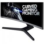 Monitor Gamer Curvo Samsung 27 LC27RG50FQLXZD HDMI 240Hz e 4ms Gsync Curvatura 1800 Preto