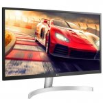Monitor LG LED 27 Widescreen UHD 4K HDR IPS HDMI Display Port Ajuste de Inclinação Preto/Branco