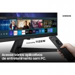Smart Monitor FHD Samsung 24 Plataforma Tizen Tap View HDMI Bluetooth HDR Série M5 Preto