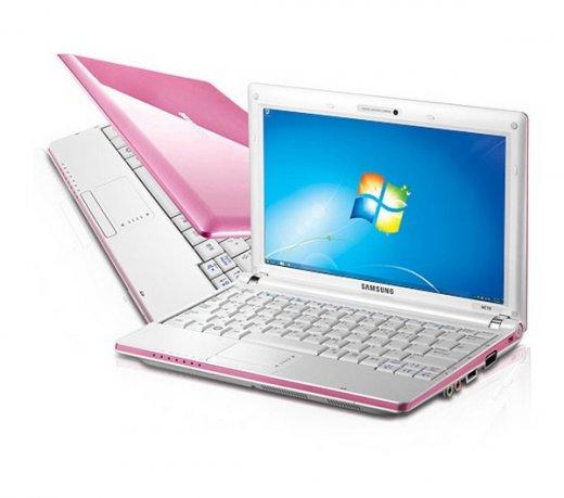 Netbook Samsung NC10 Rosa / Atom N270 / HD 160Gb / 1Gb / Windows 7 Starter