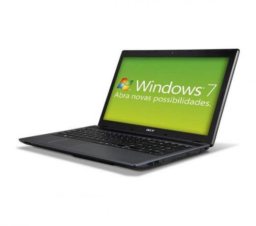 Notebook Acer / AMD E-300 Dual Core / 2GB / 320GB / 15.6 / Windows 7 Starter Edition