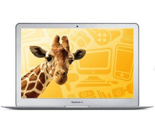 Apple Macbook Air / Intel Core 2 Duo 1.86Ghz / 128Gb Flash(SSD) / 2Gb / 13 / Branco
