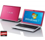 Notebook Sony Vaio / AMD Dual Core / HD 500Gb / 2Gb / Windows 7 Home Premium / Rosa