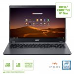 Notebook Acer Aspire 3 15,6 A315-54K-310A Intel Core i3 4GB Ram 1TB HD Endless OS cinza
