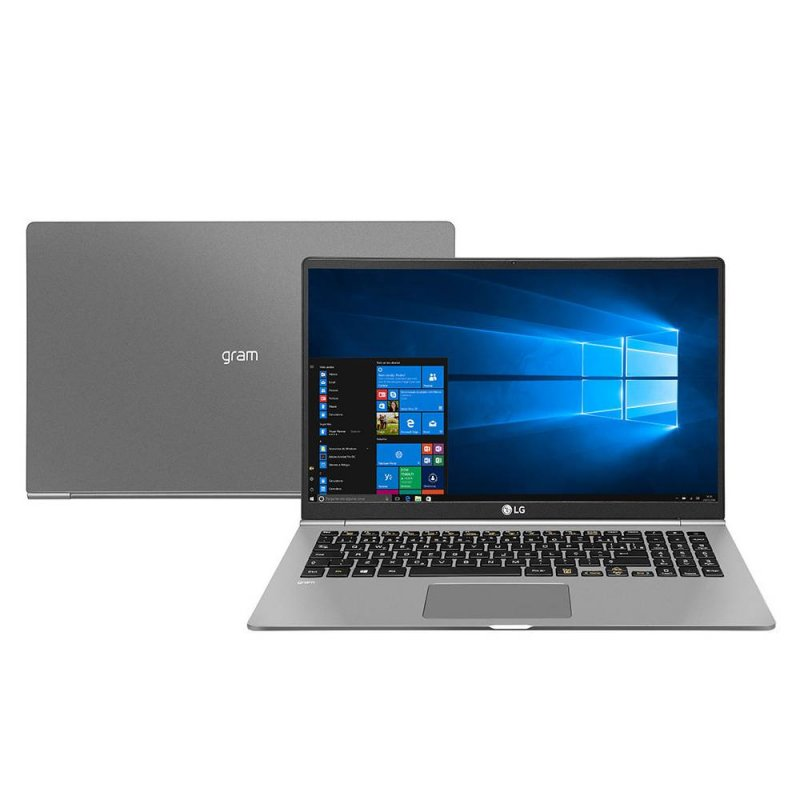 Notebook LG Gram 15,6 Windows 10 Home com Intel Core i7 8ª geração 8GB DDR4 SSD 256 Titanium