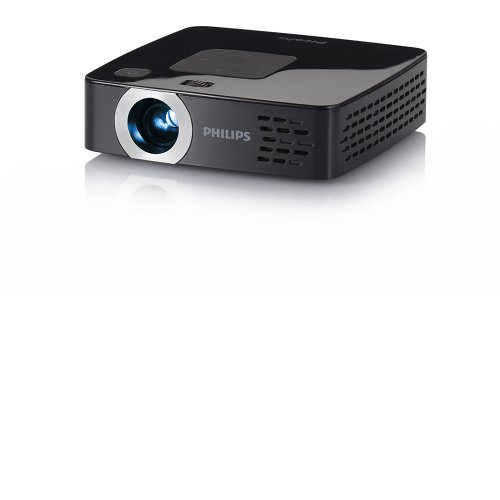 Microprojetor PicoPix Philips PPX2480 / HDMI / Mini USB / 80 Lumens / Cartão SD / Preto