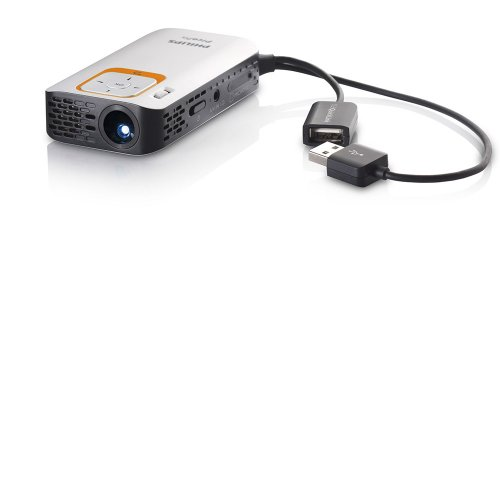 Microprojetor PicoPix Philips PPX2330 / Mini USB / Leitor MP4 / 30 Lumens / Cartão MicroSD