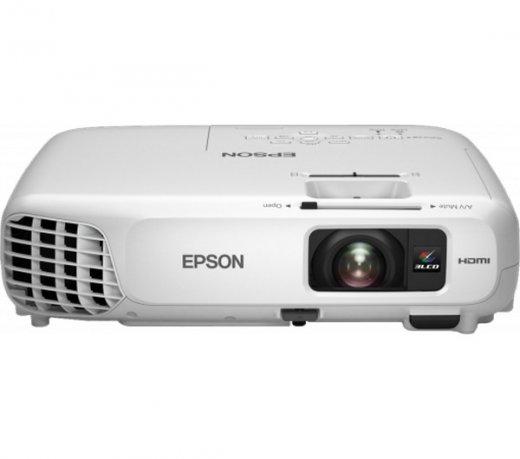 Projetor Multimídia Epson / Powerlite X24 / HD / 3500 Lúmens / LAN Wireless / Branco
