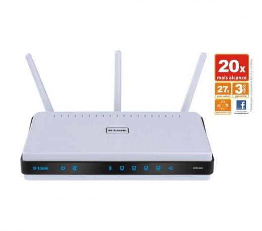Roteador D-Link Xtreme N Gigabit Router DIR-655 / 4 Portas LAN Gigabit
