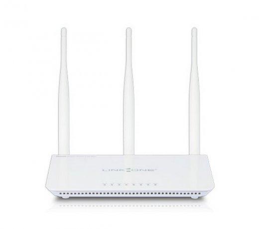 Roteador Wireless Link One L1-RW333 / 300 Mpbs / 2.4 GHz / 3 Antenas / 5 dBi / WPS / Branco / Bivolt