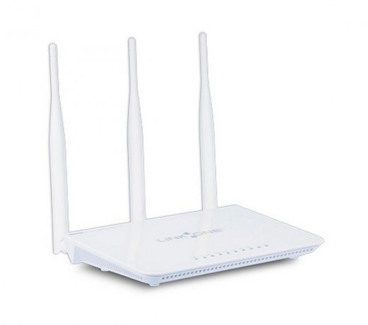 Roteador Wireless Link One L1-RWH333 / 300 Mbps / 2.4 GHz / 3 Antenas / 5 dBi / Branco / Bivolt