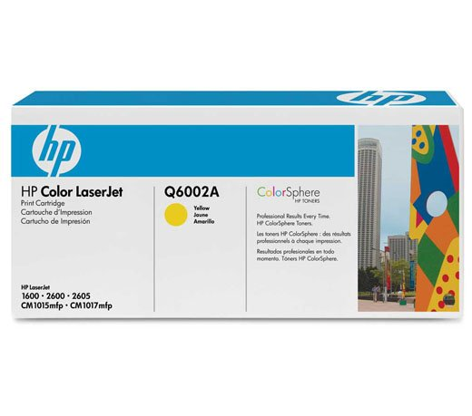 Cartucho / Toner / HP / Q6002A / Amarelo / Caixa 1 Unidade