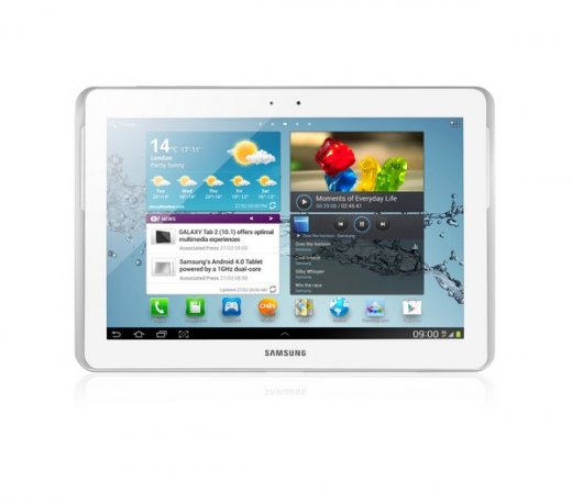 Galaxy Tab 2 Samsung P5100 / Branco / Android 4.0 / 3G / Wi-Fi / Dual Core / Câmera 3.2 / 10.1