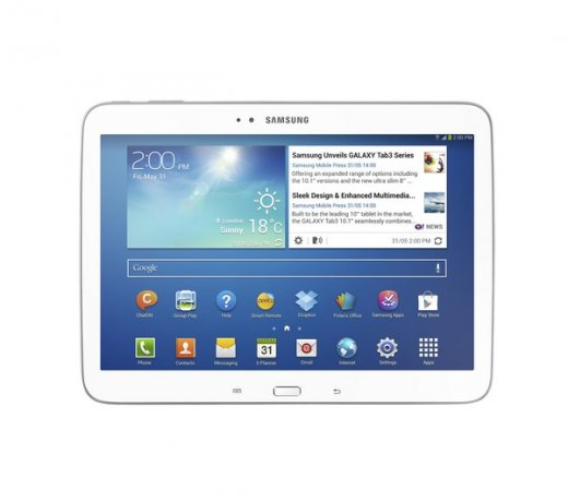 Galaxy Samsung Tab 3 10.1 GT-P5210 / Branco / Android 4.2 / 3.0 MP / 16GB / Wi Fi