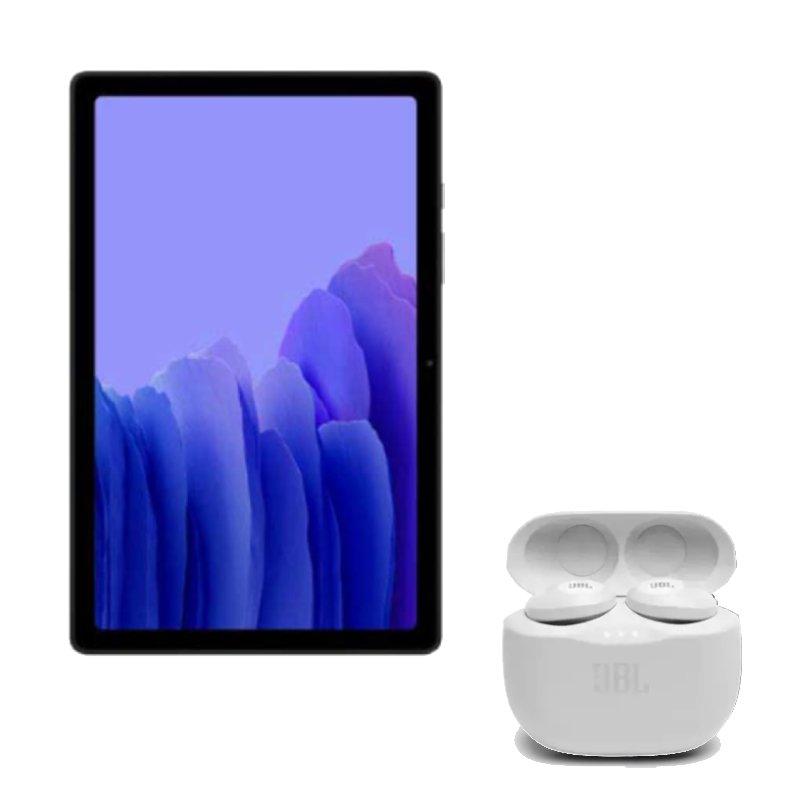 Combo Tablet Samsung Galaxy Tab A7 Grafite com 10.4 e Fone de Ouvido JBL Tune Branco