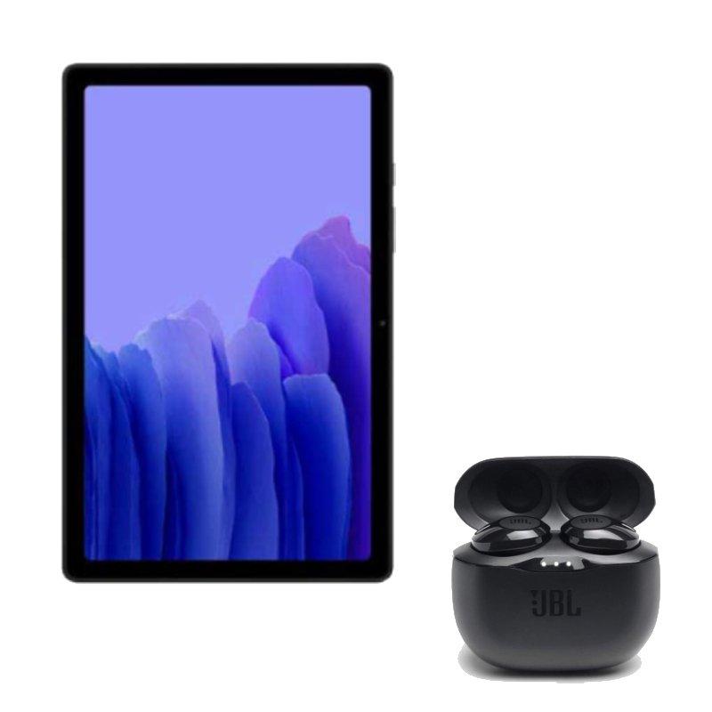 Tablet Samsung Galaxy Tab A7 Grafite e Fone de Ouvido JBL Tune