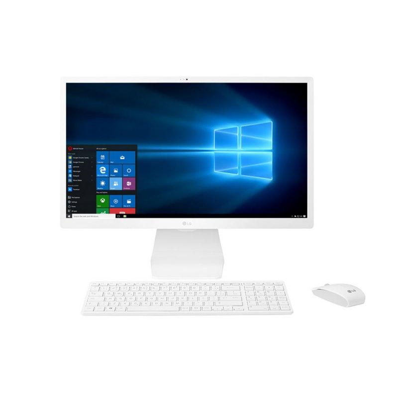 Computador All in One 23,8 Full HD i3 1TB HD 4GB RAM TV Digital LG Branco 24V570-C,BJ21P1