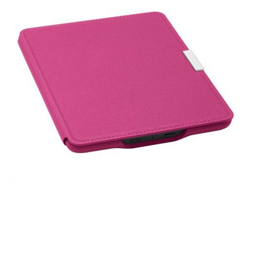 Capa de Couro para E-Reader Kindle / Amazon / Paperwhite / Rosa Fucsia