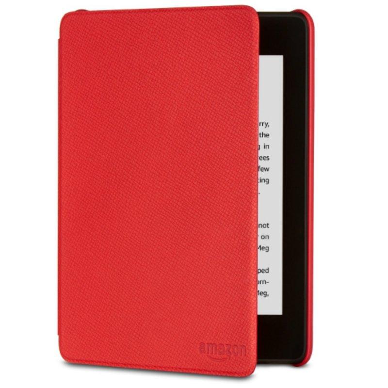 Capa de Couro Protetora Amazon para E-Reader Kindle Novo Paperwhite Vermelha