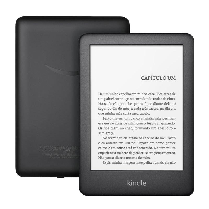 E-reader Amazon Kindle 10ª Geração Preto Tela de 6 Wi-Fi 4GB de Memória Iluminação Embutida