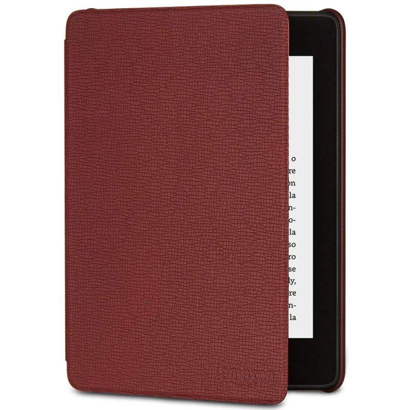 Capa de Couro Protetora Amazon para E-Reader Kindle Novo Paperwhite Vinho