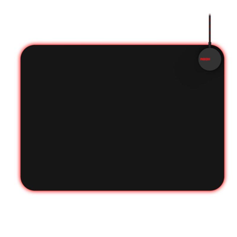 Mousepad Gamer AOC Agon AMM700 RGB Customizável Superfície Rígida de Tecido Micro Texturizado Preto