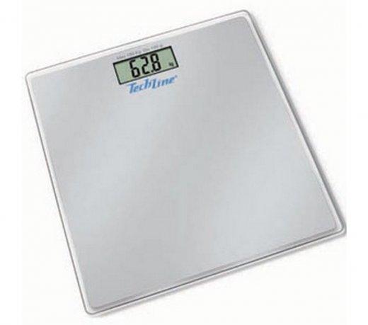 Balança Digital Techline BAL20 / Capacidade 180 Kg / Visor Digital / Prata