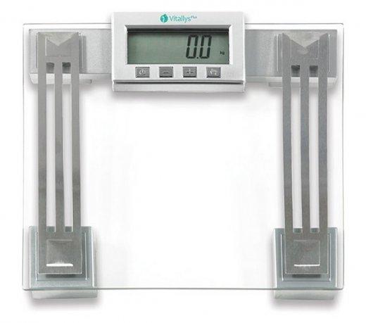 Balança Digital Eletrônica VitallysPlus VFS-1 / Prata / Até 180 Kg / Visor LCD