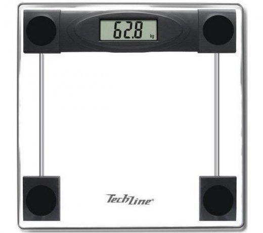 Balança Digital Techline TECBLACK / Vidro / Visor Digital / Até 180 Kg / Preto
