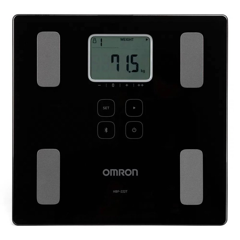 Balança Digital Omron de Bioimpedância HBF-222T com Bluetooth CONNECT Preto