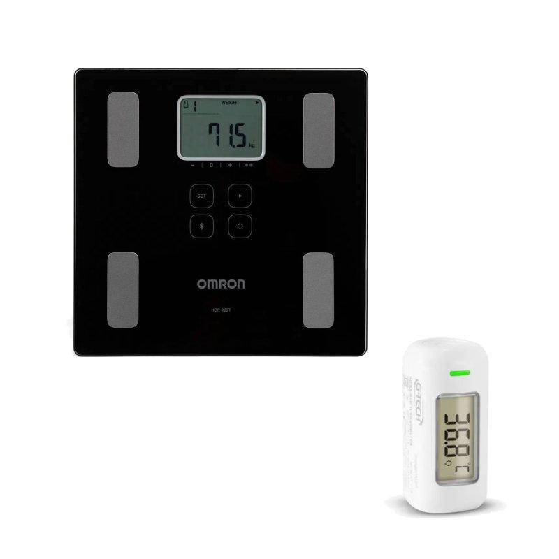Combo Balança Digital Pro G-Tech e Termômetro Infravermelho Testa G-Tech Branco