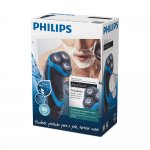 Barbeador Philips AquaTouch com Trimmer Bivolt Preto e Azul