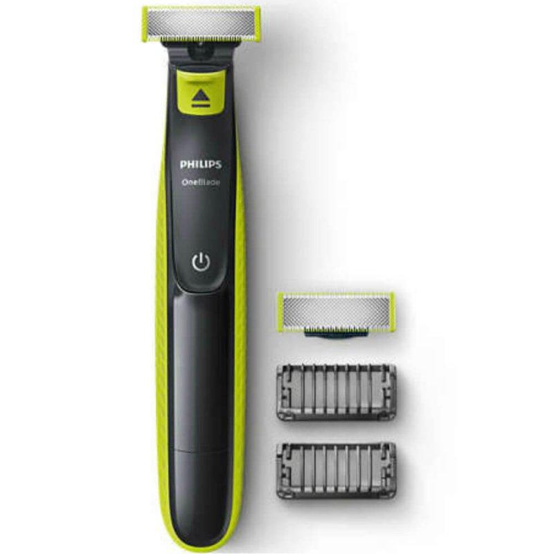 Barbeador Philips OneBlade QP2522/10 Bivolt Cinza Chumbo e Verde com Lâmina Refil