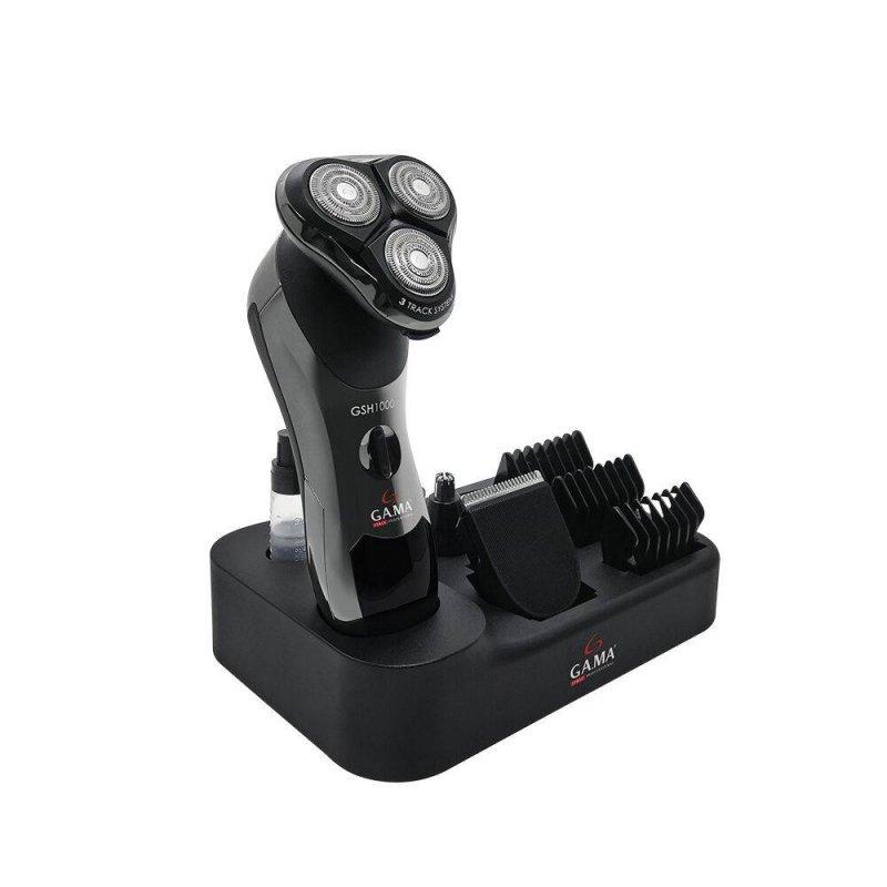 Barbeador Gama Italy GSH 1000 Bivolt À Prova D`Água com 3 Lâminas Rotativas e Visor LCD