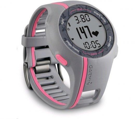 Monitor Cardíaco Garmin Forerunner 110 / Feminino/ GPS / Frequência Cardíaca / Cinza e Rosa