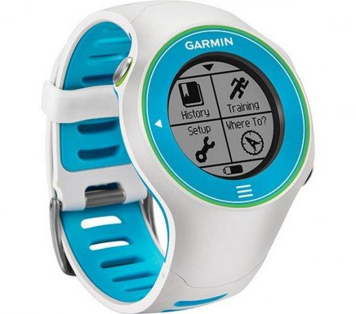 8b4f4abb65a Relógio de Corrida Garmin Forerunner 610 Touch Screen Virtual Partner GPS  Branco e Azul