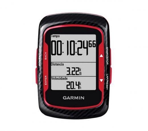 Ciclocomputador Garmin Edge 500 / Virtual Partner / Garmin Connect / GPS / Red Combo com acessórios