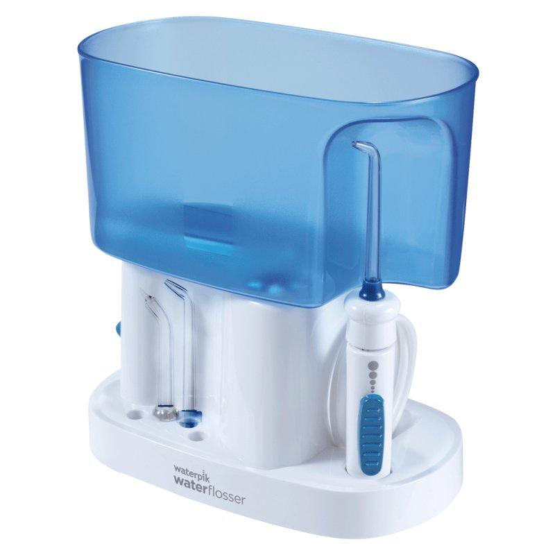 Irrigador Oral Waterpik WP70B 127V Branco e Azul com 6 Ajustes de Pressão