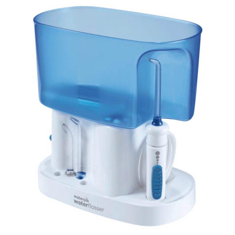 Irrigador Oral Waterpik WP70B 220V Branco e Azul com 6 Ajustes de Pressão